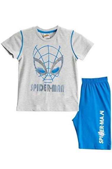 Spider-Man Spiderman Lisanslı Krem Erkek Çocuk Bermuda Takımı Gri